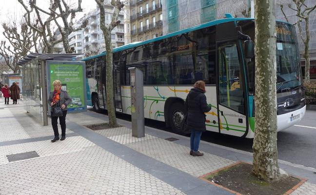 Recorrido de las líneas de Lurraldebus e interurbanas durante el Maratón de Donostia