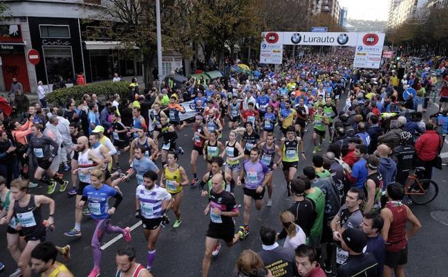 Movimientos internos en la ciudad durante el Maratón de Donostia