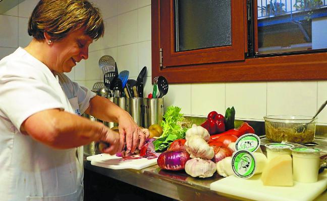 'Bertatik bertara' en la cocina de Meazti Etxea