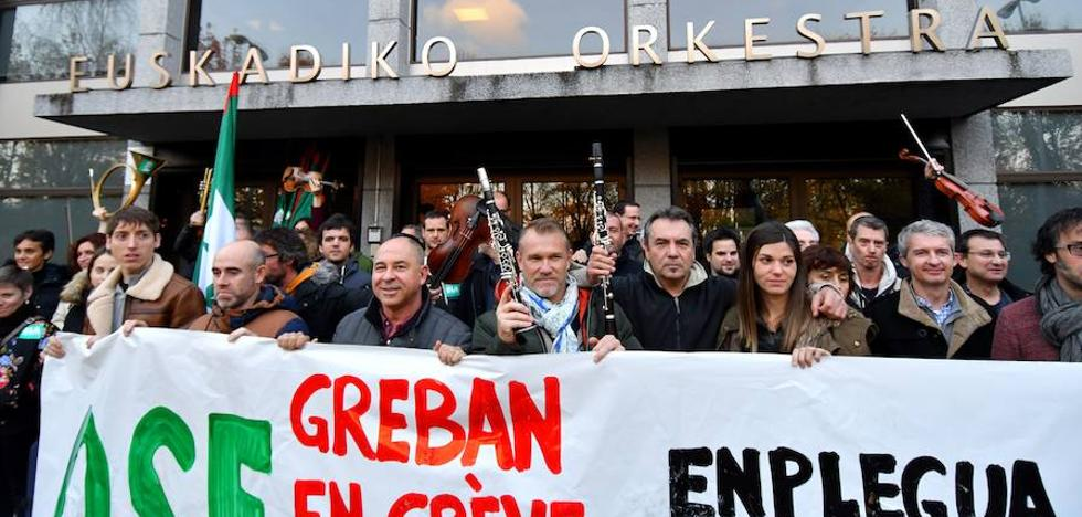 El Gobierno Vasco considera que la huelga de la OSE carece de razones sólidas