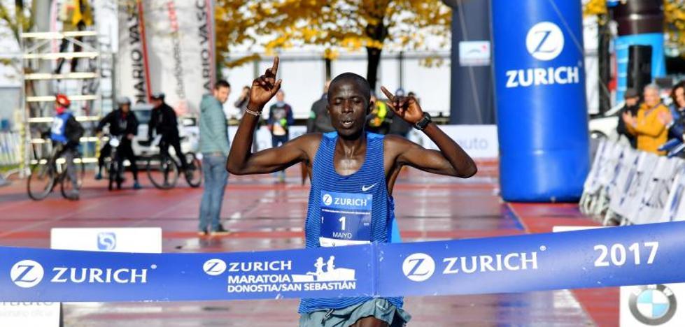 El keniano Hosea Maiyo repite triunfo pero termina muy lejos del récord