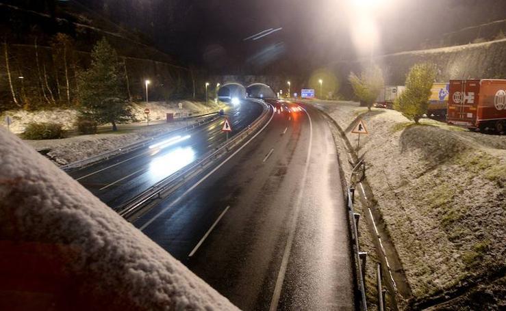 La nieve llega a Gipuzkoa