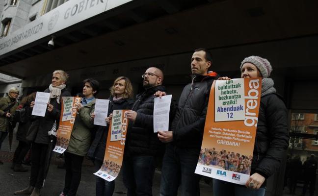 Nueva jornada de huelga hoy en la enseñanza pública vasca