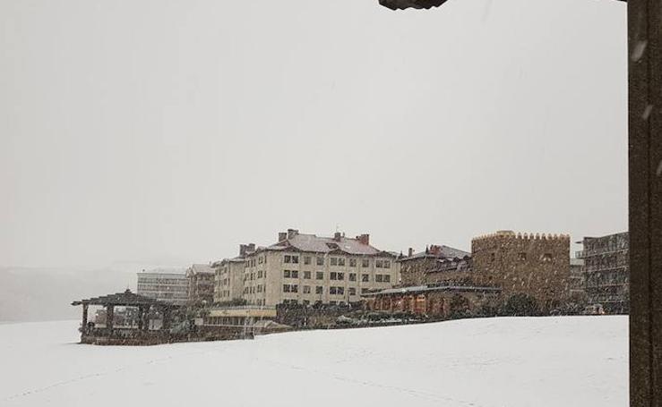 La nieve tiñe Gipuzkoa de blanco