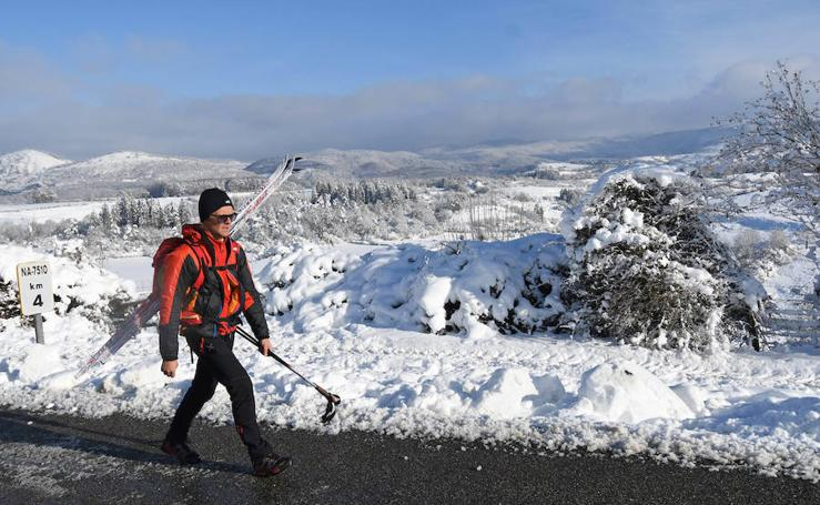 Bellas estampas de nieve en Aralar