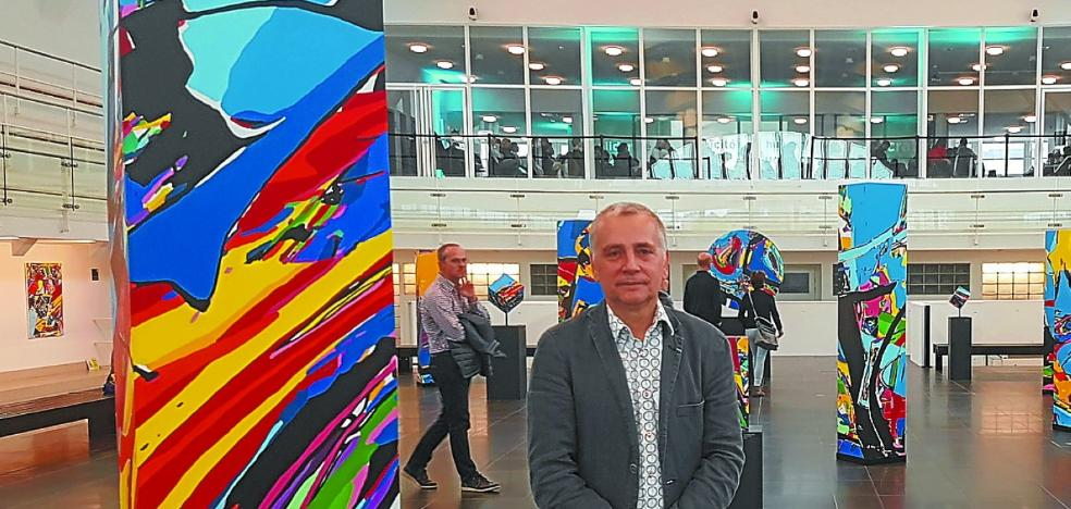 Luis Salazar, el pintor donostiarra que triunfa en Lieja