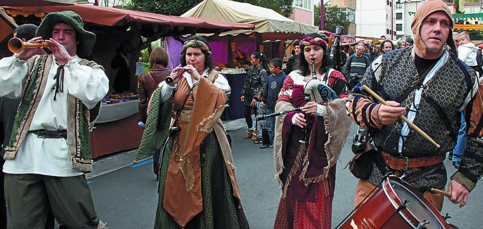 Feria medieval en las calles de Zarautz a partir de hoy, durante todo el puente