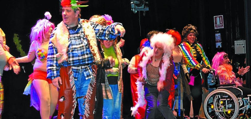 Gran espectáculo en el festival de 'Gai gara-Somos capaces' de Jalgune