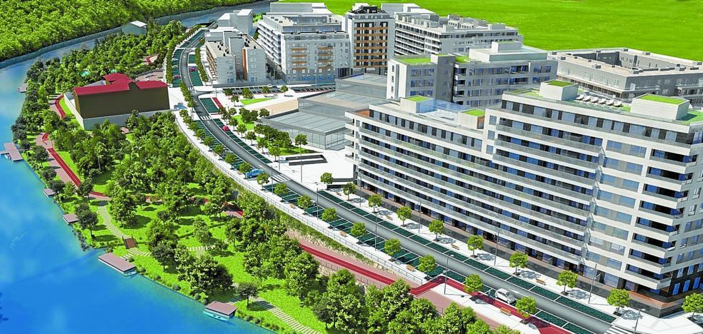 El parque fluvial del Urumea se abrirá en un año, como los primeros pisos de Txomin Enea