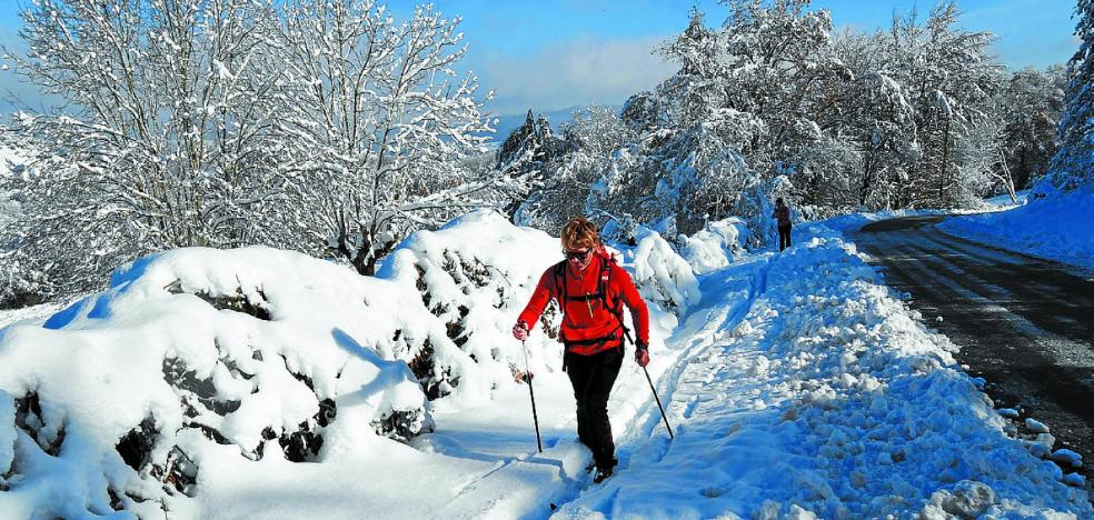 Activan de nuevo el aviso por riesgo de nevadas en el interior de Euskadi
