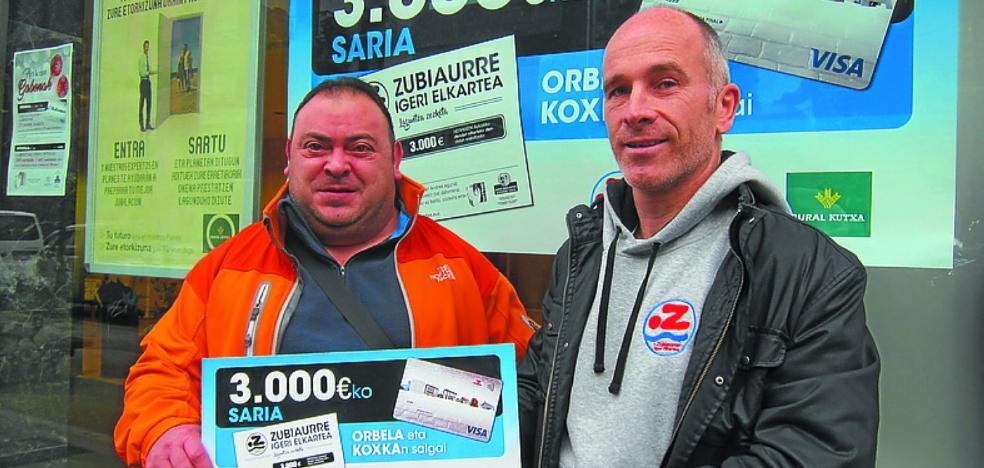 Iñaki Larrañaga izan da Zubiaurre Igeri Elkarteko zozketako irabazlea