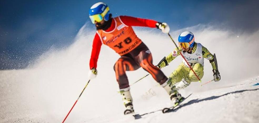 Jon Santacana logra una medalla de oro y otra de plata en la Copa de Europa de esquí alpino