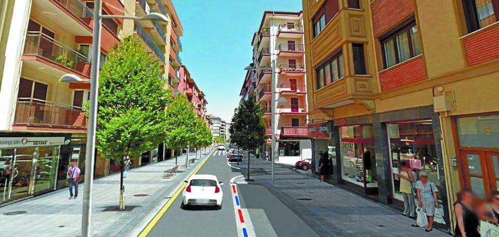 La obra en el tramo pendiente de la calle Hondarribia arrancará en 2018