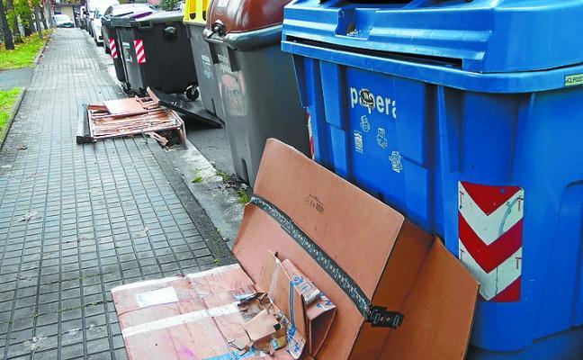 Sasieta ha detectado incidencias en varios puntos de recogida de basura