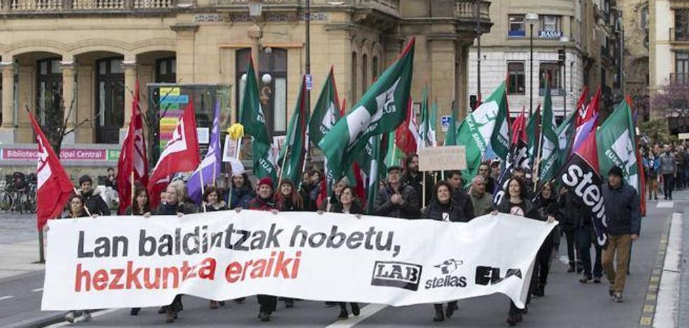 La enseñanza no universitaria vuelve este martes a la huelga
