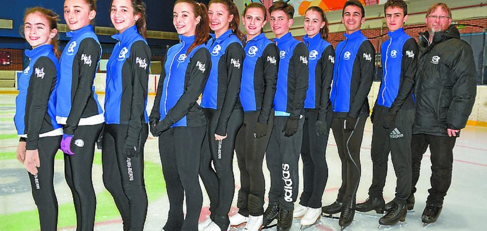 Diez patinadores del Txuriberri, en el campeonato de España
