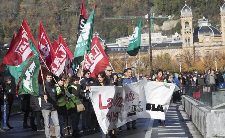 Última huelga del año en la enseñanza pública vasca