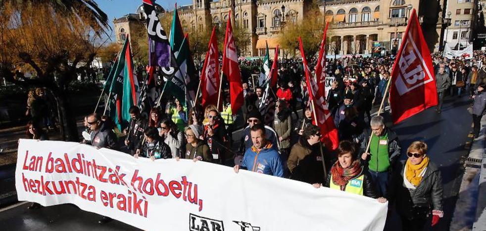Seguimiento mayoritario de la última huelga del año en la enseñanza pública vasca
