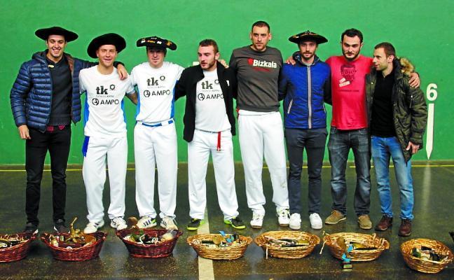 Sanz-Echavarren y Arrieta-Skufca, ganadores del Campeonato Élite de Pala