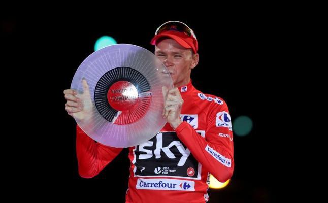 Chris Froome da positivo en un control antidopaje en la Vuelta a España