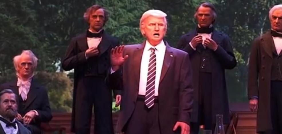 El robot parlante de Trump creado por Disney no gusta en la red