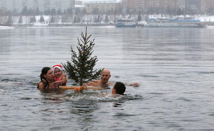 Un buen baño antes de Navidad