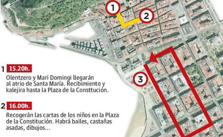 El recorrido de Olentzero en San Sebastián