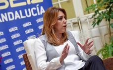 Susana Díaz lamenta el «ataque salvaje» a dos personas «honestas» como Chaves y Griñán