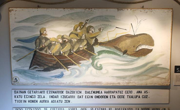 'Captura de dos ballenas, 1763' de Rafael Munoa se expone en el Museo Naval