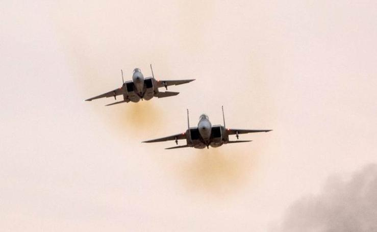 Espectáculo aéreo en cielo israelí