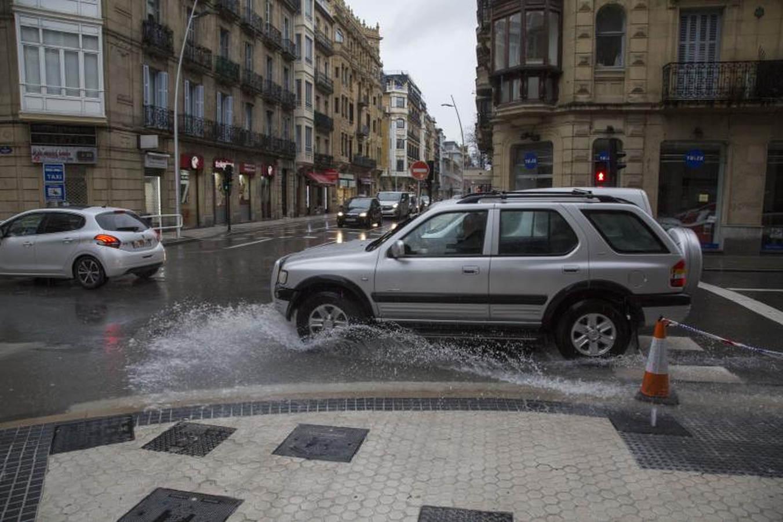 Intensas precipitaciones en San Sebastián