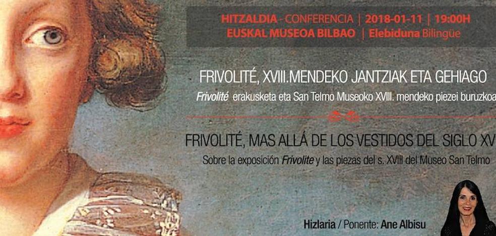 Ane Albisu diseinu eta moda adituak hitzaldia emango du Euskal Museoan