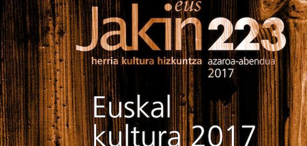 Euskal kulturaren urtekaria plazaratu du 'Jakin' aldizkariak