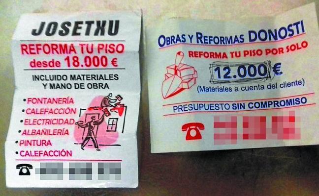 El falso 'chapuzas' habría estafado a medio centenar de guipuzcoanos, calcula la Policía
