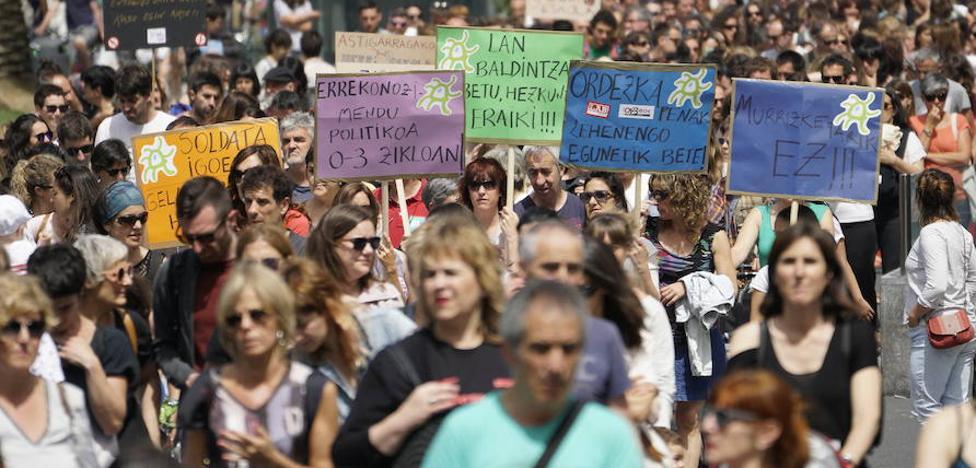 Reivindicaciones sindicales y propuestas del Gobierno Vasco en el conflicto de Educación