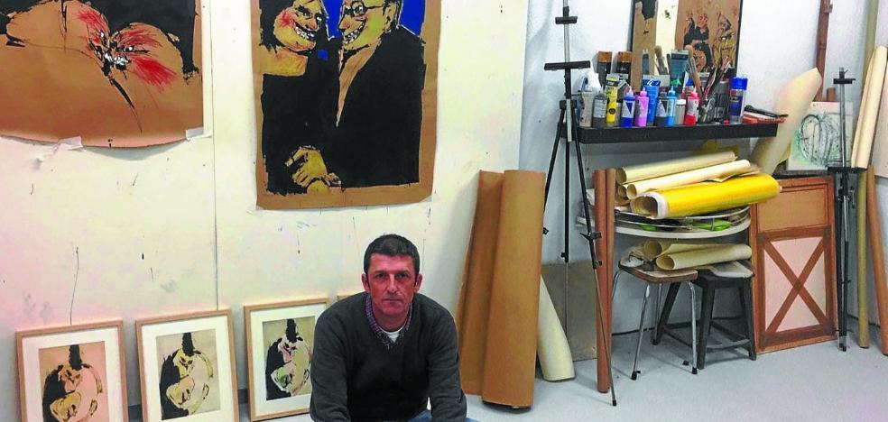 Borja Arratibel inaugura exposición en la casa de cultura Okendo de Gros