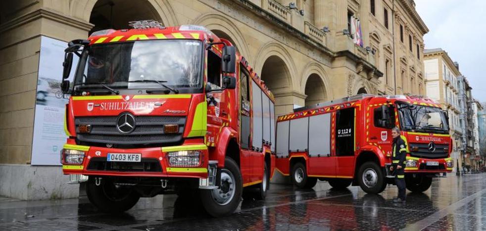 Dos nuevos camiones para los Bomberos de Gipuzkoa