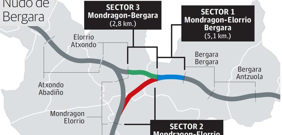 La obra del nudo de Bergara comenzará en verano tras la licitación de sus tres tramos