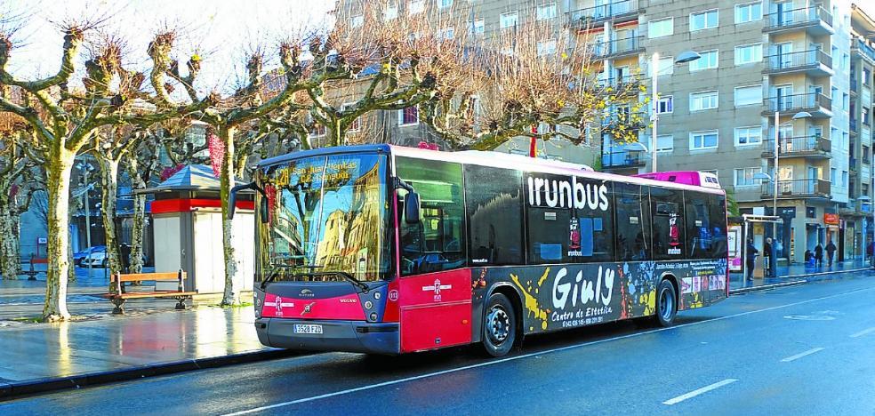 Todas las líneas de Irunbus aumentaron su número de usuarios durante el año pasado