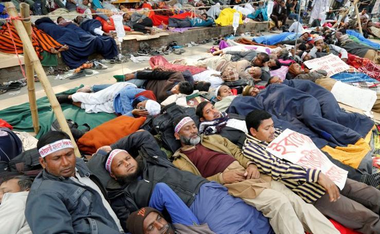 En huelga de hambre