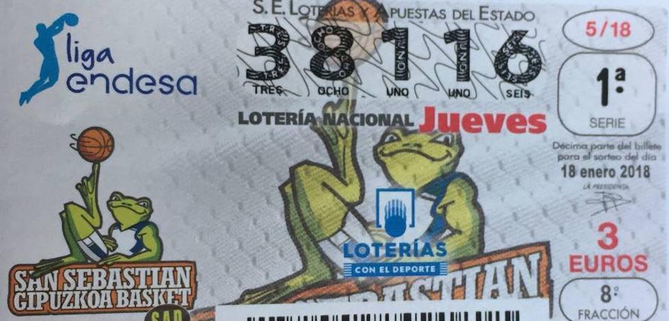 El GBC, en el boleto de la Lotería