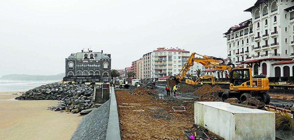Hendaia inicia la segunda fase de obras del paseo marítimo