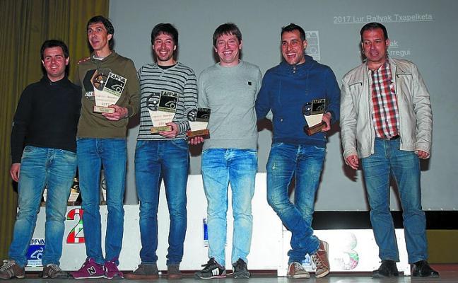 Broche de oro a la temporada con cuatro oñatiarras premiados en la gala del motor