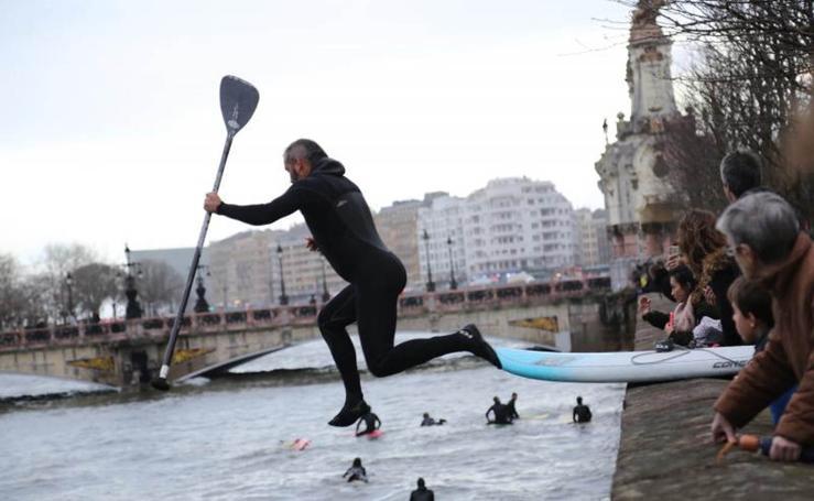 Surf en el Urumea