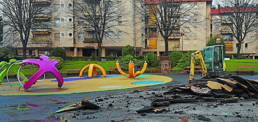 Arrancan las obras de renovación del parque infantil de Pilartxo Enea