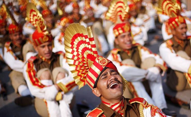 Todo listo para el día de la República en New Delhi