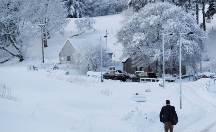 Grandes nevadas en Escocia
