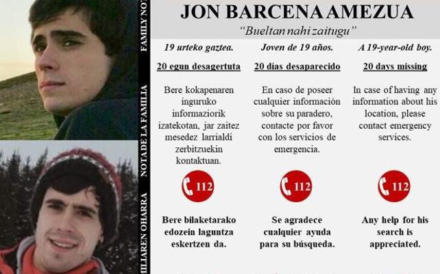 La familia del montañero desaparecido en el Gorbea vuelve a pedir ayuda al cumplirse 20 días de su desaparición