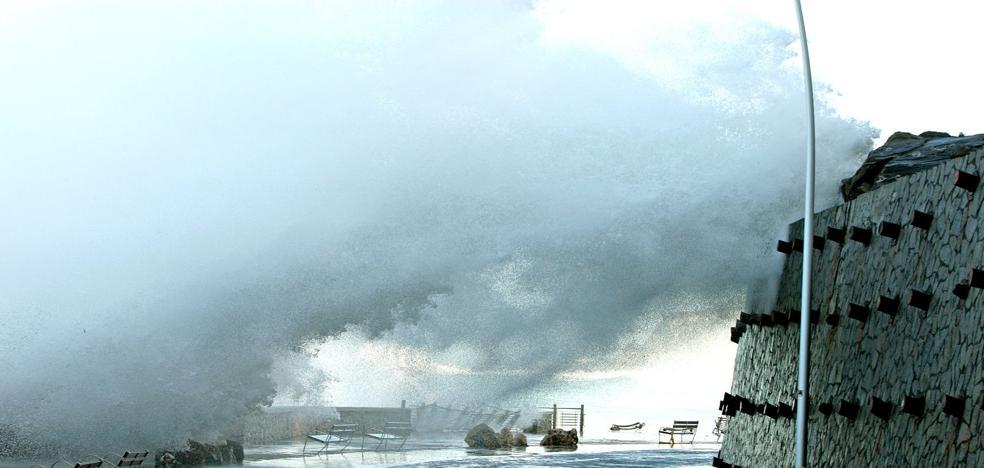 Finaliza el aviso amarillo por riesgo de impacto de olas en la costa de Gipuzkoa