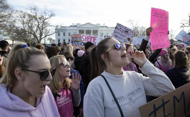 Las marchas de mujeres toman EE UU en el primer aniversario del Gobierno Trump